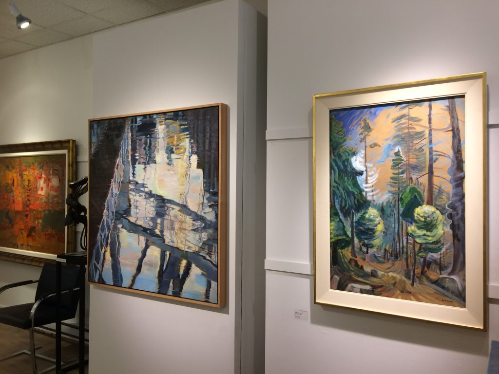 Petley Jones Gallery, 2018 left to right: Jack Shadbolt, Amelia Alcock-White, Emily Carr.