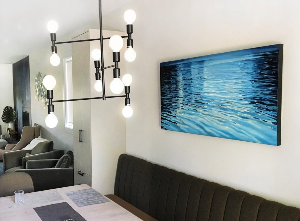 "Kitsilano Residence 2019  Custom commissioned painting  ""Coasting"" 